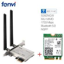 Desktop Computer PC Wireless 9260NGW Dual Band 1730Mbps WiFi 9260AC Bluetooth 5.0 MU MIMO Gaming Wlan PCI E 1X Card Windows 10