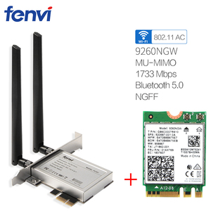 Image 1 - Desktop Del Computer PC Senza Fili 9260NGW Dual Band 1730Mbps WiFi 9260AC Bluetooth 5.0 MU MIMO Gaming Wlan PCI E Carta di 1X Finestre 10