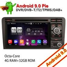 7737 Autoradio רכב נגן DVD עבור אאודי אאודי A3 S3 RS3 RNSE PU DAB + Bluetooth OBD DVD אנדרואיד 9.0 SatNav