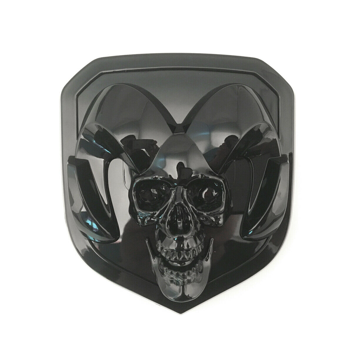 2013-2018 Dodge Ram 1500 2500 3500 Mopar Black 3D Skull RAM Head Grille Emblem