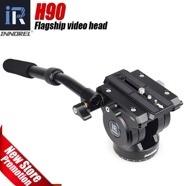 Innorel H90 비디오 유체 삼각대 헤드 공급 업체 합금 CNC 기술 전체 풍경 조류 헤비 듀티 안정적인 15kg 댐핑로드