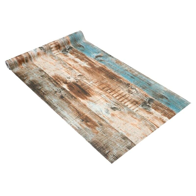 6m Vinyl Rustic Wood Plank Self