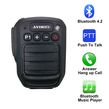 HB980 Bluetooth PTT Microphone Support Zello PTT Moblie Phone with Baofeng UV-5R UV-82 Walkie Talkie Two Way Ham Radio