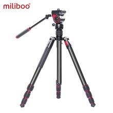 miliboo MUFA Professional Aluminum Portable T Camera Video Tripod with Hydraulic Head Tripod Stand