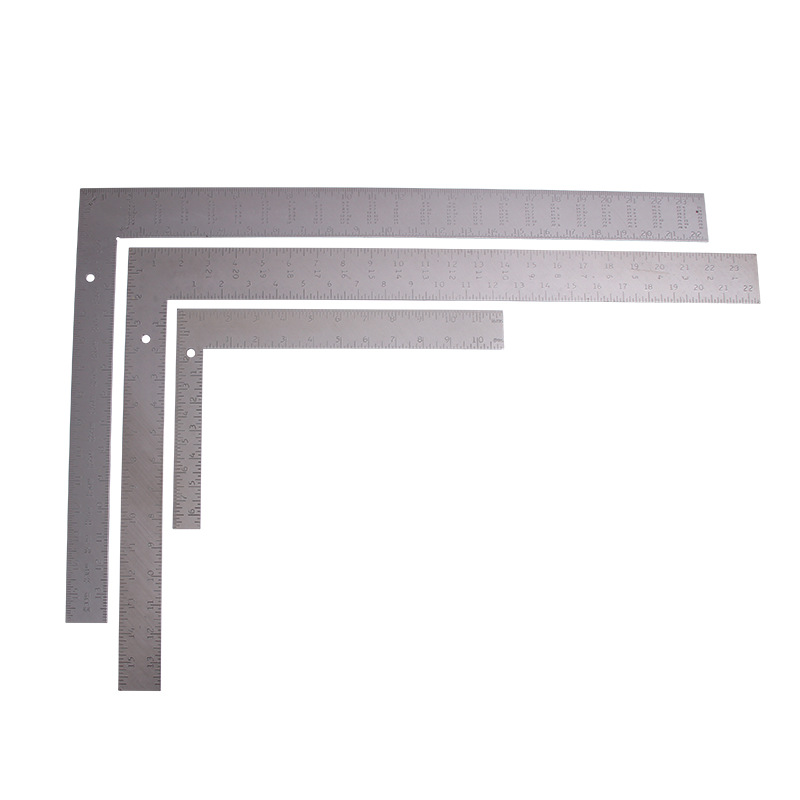 CJ-5010 Carbon Steel Right Angle Esquadro Thick Multi-functional Level L-square Woodworking Decoration 90-Degree Angle Ruler