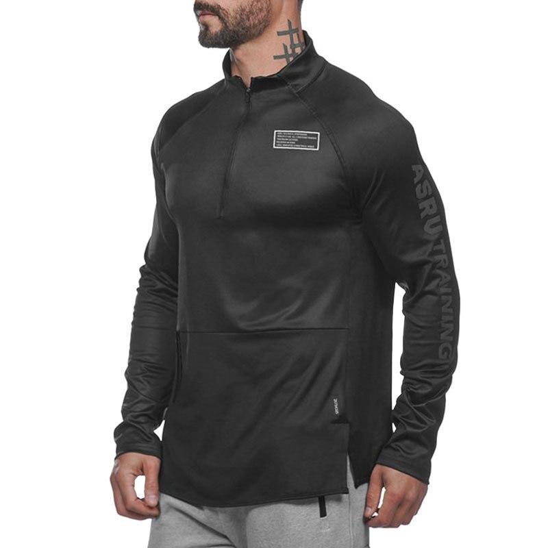 ASRV Running Jacket Men Sports Coat Fitness Long Sleeve Hooded Tight Hoodies Slim Hiking Sweatshirts Male Gym Training Jackets