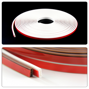 Image 3 - 6 metro/lote e/d/i tipo tira de vedação de borracha de silicone para porta/janela fita isolante de som auto adesiva