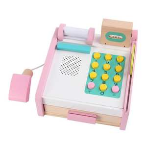 Cash Register Wooden Girls Children Role-Play-Toy for Boys Simulation 1set Baby