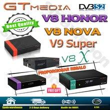 Mais novo gtmedia v8x decodificador de satélite atualizado por gtmedia v8 nova honra DVB-S2 freesat v9 super h.265 hd construído em wifi nenhum aplicativo