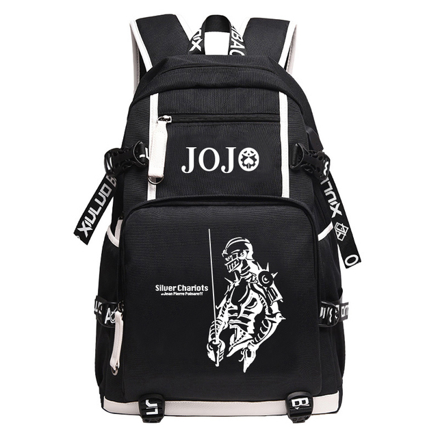 JoJo's Bizarre Adventure Large School Backpack Anime KILLER QUEEN DIO Bookbag Oxford Travel Bagpack Cartoon USB Laptop Mochilas 4