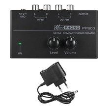 Ультракомпактный предусилитель для фонографа pp500 с регулировкой