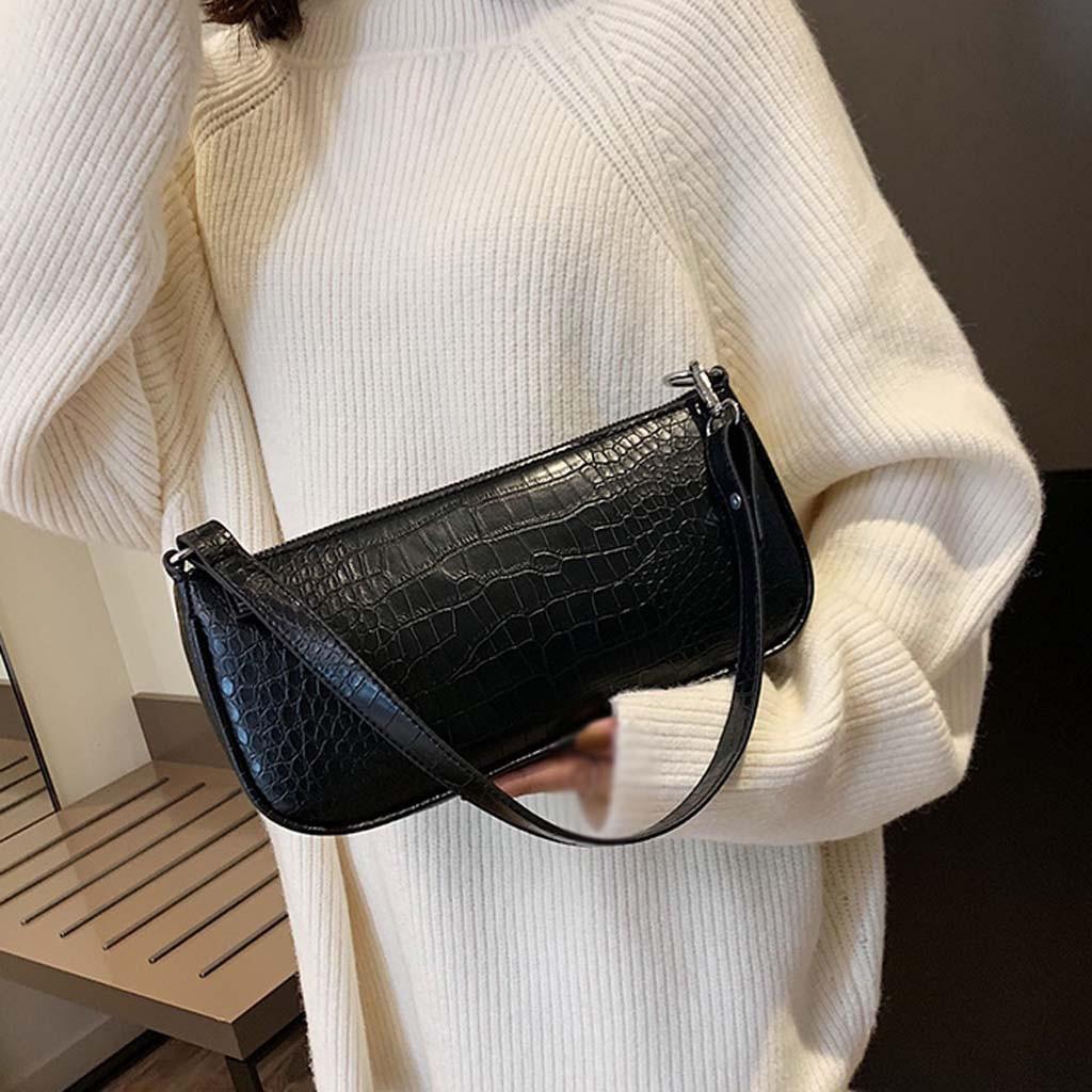Women Shoulder Bag Pu Leather Solid Messenger Bag Ladies Casual Zipper Shoulder Bag Female Travel Handbag Sac Main Femme 2020 J3