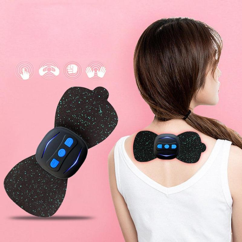 Dropshipping Portable Charging Massager Mini Massage Stickers Neck Stickers Cervical Vertebra Physiotherapy Instrument(China)
