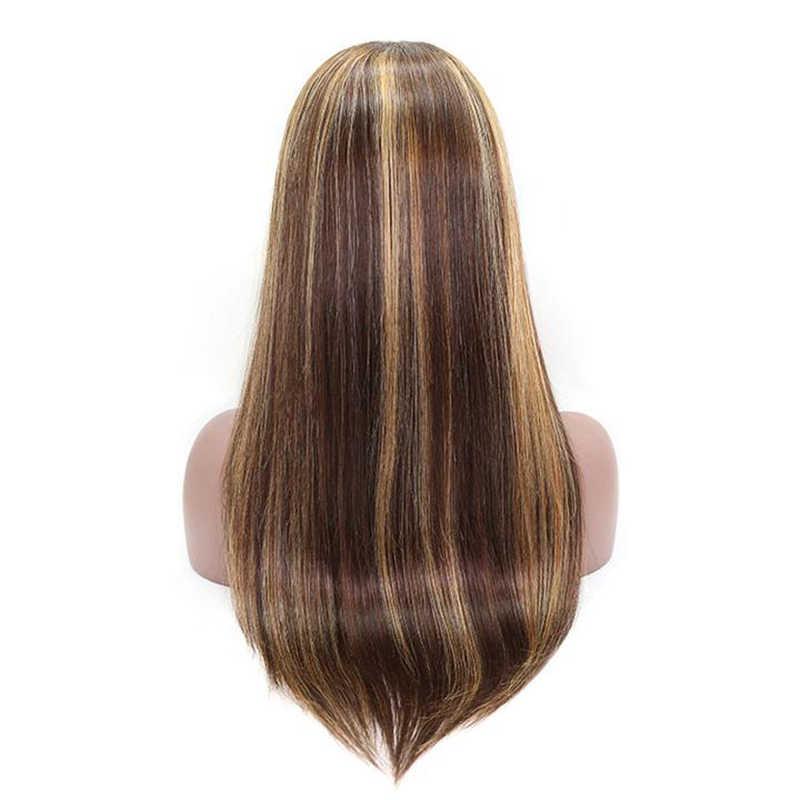 #4/27 яркие цветные человеческие волосы, парики с повязкой на голову, Ombre Remy, без клея, без гелевых париков для черных женщин, бразильские парики с шарфом