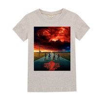 Meninos e meninas verão manga curta 3d estranho coisas impressão t camisas crianças camisetas de algodão roupas para crianças para 3-16years