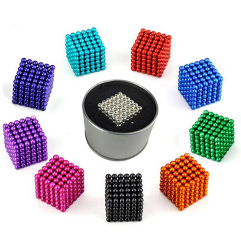 216Pcs/set 3mm Balls Neodymium Magnet Sphere Creative Magnets Imanes Magic Strong NdFeB Colorful Buck Ball Fun Cube Puzzle