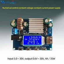 Fuente de alimentación DC-DC Boost/Buck, placa de carga Solar ajustable con pantalla LCD, CC de 5,0 V-30V a CC de 0,6 V-30V, 0-4.0A, CC, CV