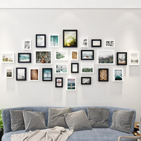 European 28 Pcs/Set Simple Modern Photo Frame Family Picture Frames For Paintings Living Room Photo Wall Decoration Combination