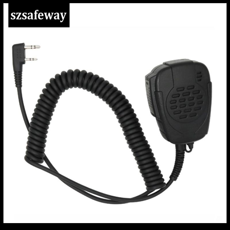 Two Way Radio Microphone Waterproof IP54 Speaker Mic  For Kenwood Baofeng Walkie Talkie