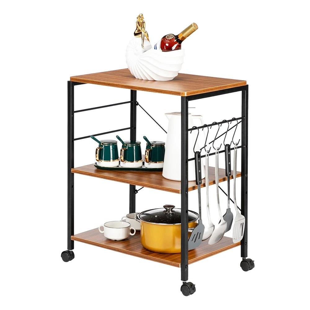 kitchen microwave cart 3 tier kitchen utility cart vintage rolling bakers rack