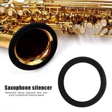 1pc Saxophone Muffler Protection Ring Silicone Durable Trumpet Horn Mouth Sleeve Necessary Woodwind Instruments Accessories