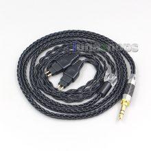 Câble d'écouteurs pour Sennheiser HD580 HD600 HD650 HDxxx HD660S HD58x HD6xx LN007038, plaqué argent pur équilibré noir à 8 cœurs
