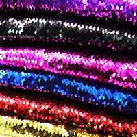 Высокое качество 130*50 см Двусторонняя Русалка рыбья чешуя блестящая ткань блестящие пайетки ткань для платья/бикини/подушки/одежда