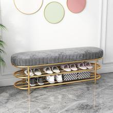 Shoe Cushion Nordic-Light Entry-Door Luxury Home Iron Soft-Bag Creative