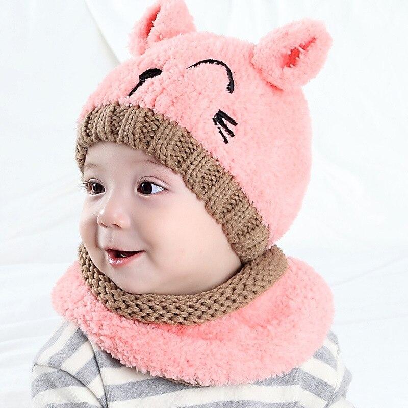 MZ4161 Hat Infant Bay Hat Men And Women Baby Winter Meng Bear Set Cap Earmuffs Hat Plush Bear