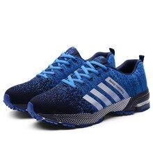 Męskie buty wulkanizowane męskie w stylu Casual, letnia Unisex z lekką oddychającą siateczką modne męskie buty sportowe trampki duże Size35 47