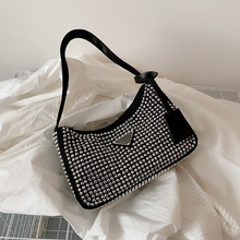 Blingbling PU Leather Small Underarm Shoulder Bags 2021 Women Brand Luxury Fashion Lady Party Handbags and Purses