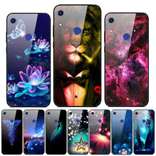 For Huawei Honor 8A Prime Case Tempered Glass Print Back Cover Hard Case For Honor 8A Prime Phone Case Bumper 8 A Pro Prime 2020 худи print bar for honor