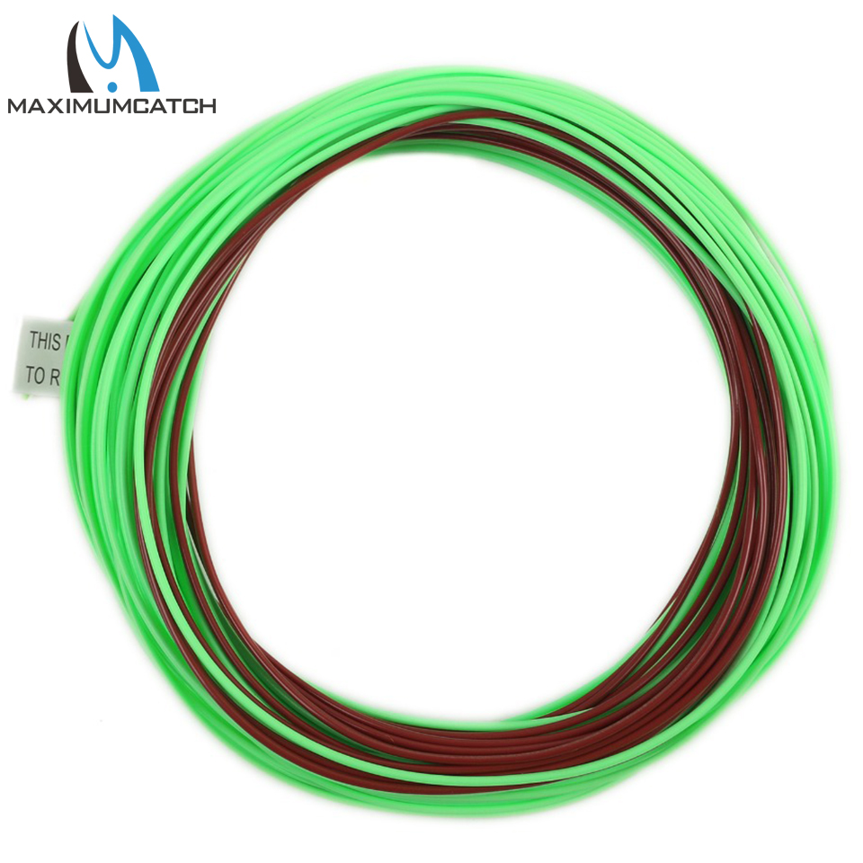 Maximumcatch Mainstream Weight Forward Floating With Sinking Tip 80FT 4-8WT Brown/Green Color Fly Line