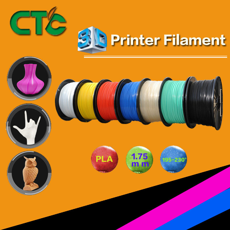 1KG PLA <font><b>filament</b></font> plastic 1.75 mm roll for <font><b>3D</b></font> printer or <font><b>Pen</b></font> Yellow Black Grey Green USA Stock image