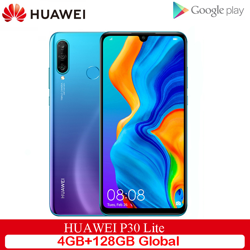 Original Global Version Huawei P30 Lite 4GB 128GB Mobile Phone 6.15 inch Smartphone 32MP 4*Cameras With Google Pay Android 9.0 image