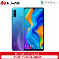Ursprüngliche Globale Version Huawei P30 Lite 4GB 128GB Handy 6,15 zoll Smartphone 32MP 4 * Kameras Mit google Zahlen Android 9.0