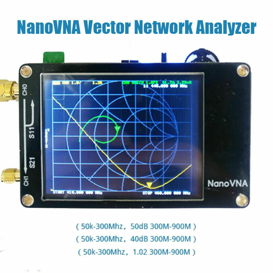 Neue 2,8 zoll LCD Display NanoVNA VNA HF VHF UHF UV Vector Network Analyzer Antenne Analyzer + Batterie