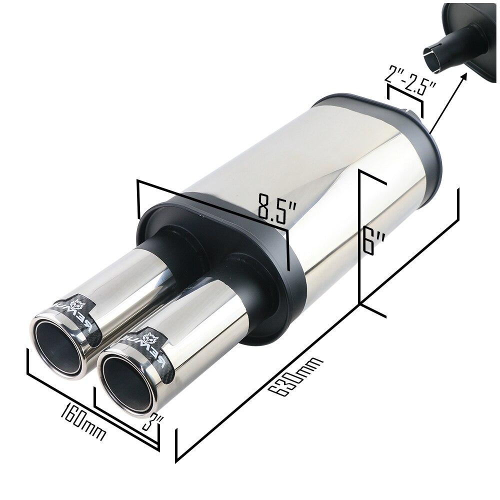 Universale di scarico posteriore auto silenziatore tubo di scarico nero Remus Tubo di auto tubo di coda di trasporto libero