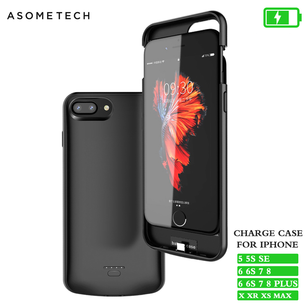 <font><b>Battery</b></font> <font><b>Case</b></font> For <font><b>iPhone</b></font> X XS Max XR Power Bank Power <font><b>Case</b></font> Audio Slim Charger Powerbank <font><b>Case</b></font> For <font><b>iPhone</b></font> 6 6S 7 8 Plus 5 <font><b>5S</b></font> SE XR image