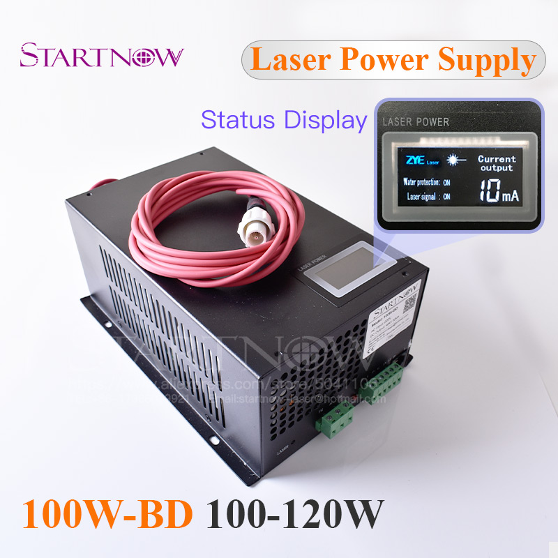 100W-BD CO2 Laser Power Supply With Display Screen 100W MYJG-100 120W Co2 Laser Source For Co2 Laser Engraving Cutting Machine