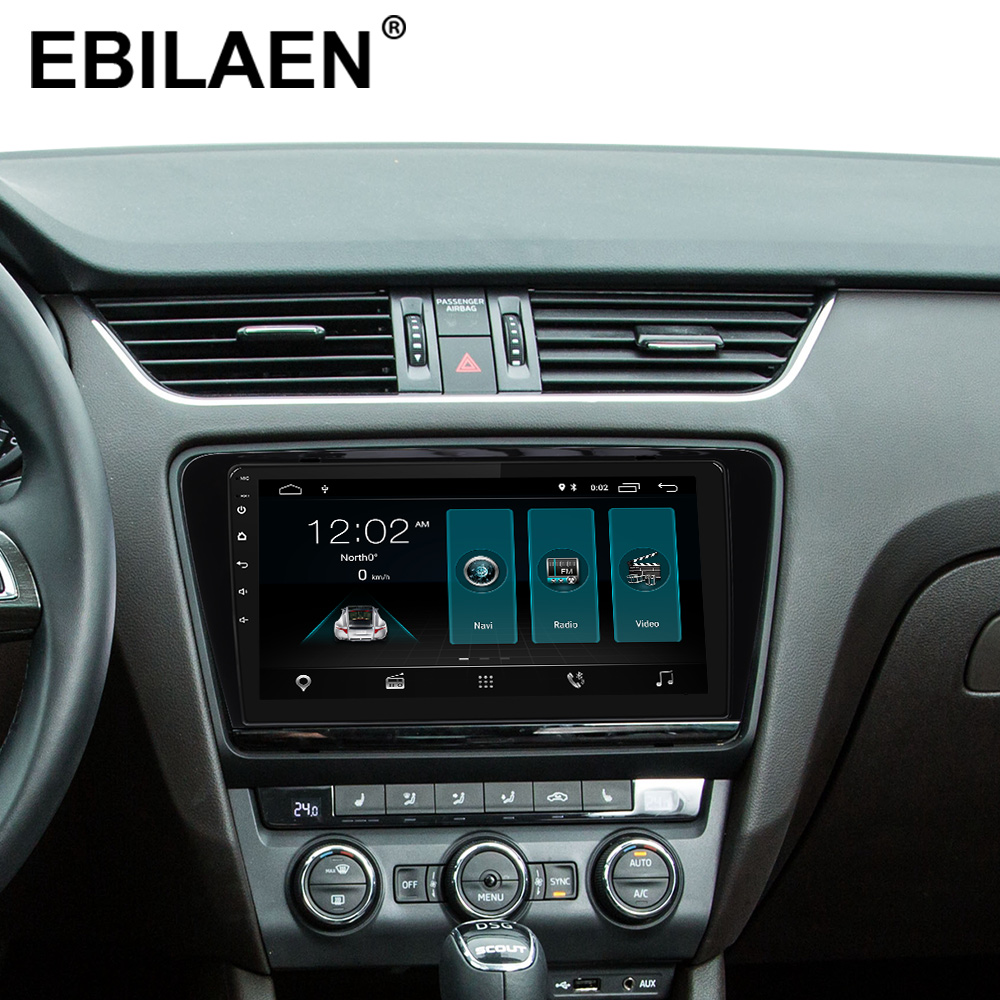 Reproductor Multimedia de DVD de coche EBILAEN para Skoda Octavia A7 III 3 2014 2018 2din Android 9,0 Radio navegación automática GPS cámara trasera - 2
