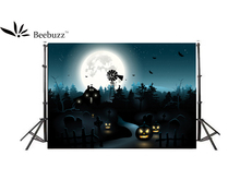 Beebuzz photo backdrop halloween pumpkin cartoon decoration background picture