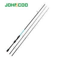 Caña de pescar giratoria de carbono JOHNCOO acción rápida 1,98/2,1/2,4/2,7 m 2 puntas caña de señuelo vara de pesca carpa caña de pescar