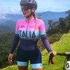 Franesi 2019 pro equipe triathlon terno feminino manga curta camisa de ciclismo skinsuit macacão maillot ciclismo roupas setgel 9
