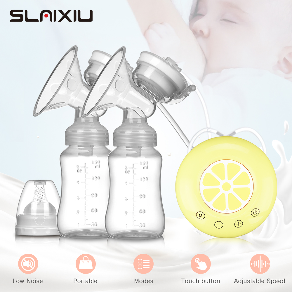 Single/Double Electric Breast Pump BPA Free Powerful Breast Pumps USB Electric Breast Pump With Baby Milk Bottle Cold Heat Pad