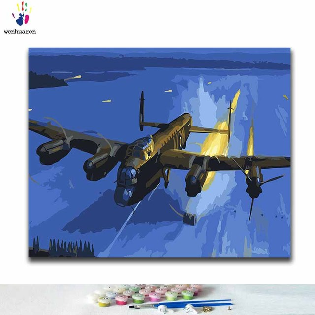 Painting By Numbers Lancaster Bomber WW2 Military RAF