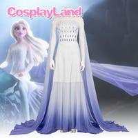 Elsa White Dress Fancy Carnival Halloween Costumes Cosplay Princess Anna Elsa Costume Sexy Women Dress Outfit Custom Made