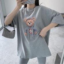 Été Drôle Kawaii Dessin Animé Vêtements Femmes Style Coréen T-shirt Filles O-cou Manches Courtes Hauts Décontracté T-shirts Basiques Camisetas Mujer