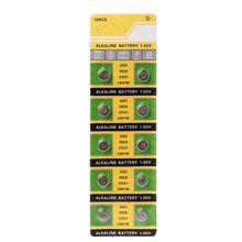 10Pcs Cell-münze Alkaline Batterie AG3 1 55 V Taste Batterien SR41 192 L736 384 SR41SW CX41 LR41 392 Lampe kette Finger Licht Uhr cheap Crust Pro CN (Herkunft) NONE 1 55V Diameter app 7 9mm 0 31in 20202020 piece 0 03kg (0 07lb ) 10cm x 10cm x 5cm (3 94in x 3 94in x 1 97in)