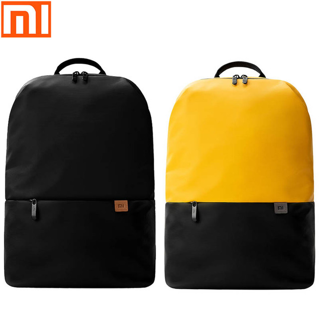 Original xiaomi backpack two color matching fashion youth bag men and women outdoor sports travel bag large capacity storage